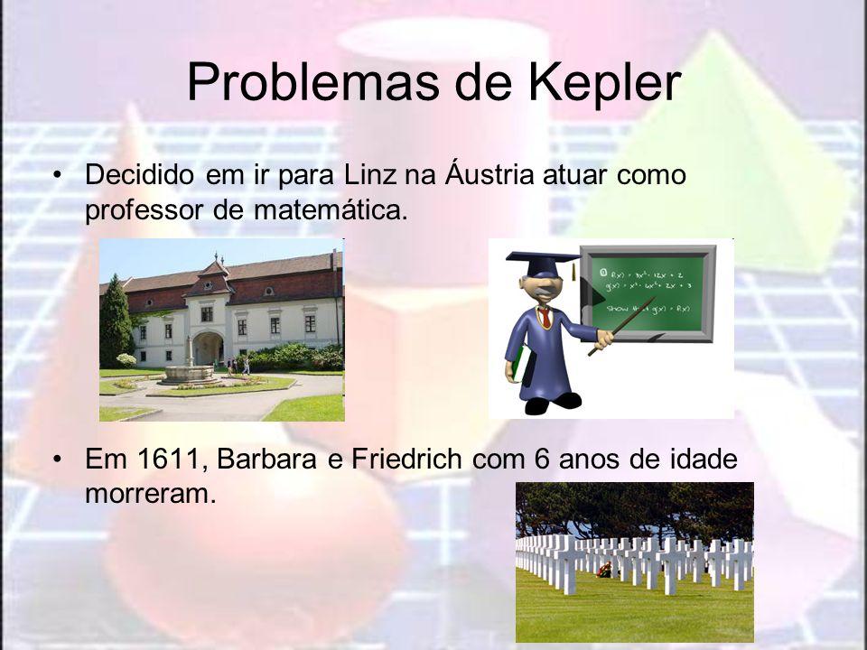 Problemas de KeplerDecidido em ir para Linz na Áustria atuar como professor de matemática.