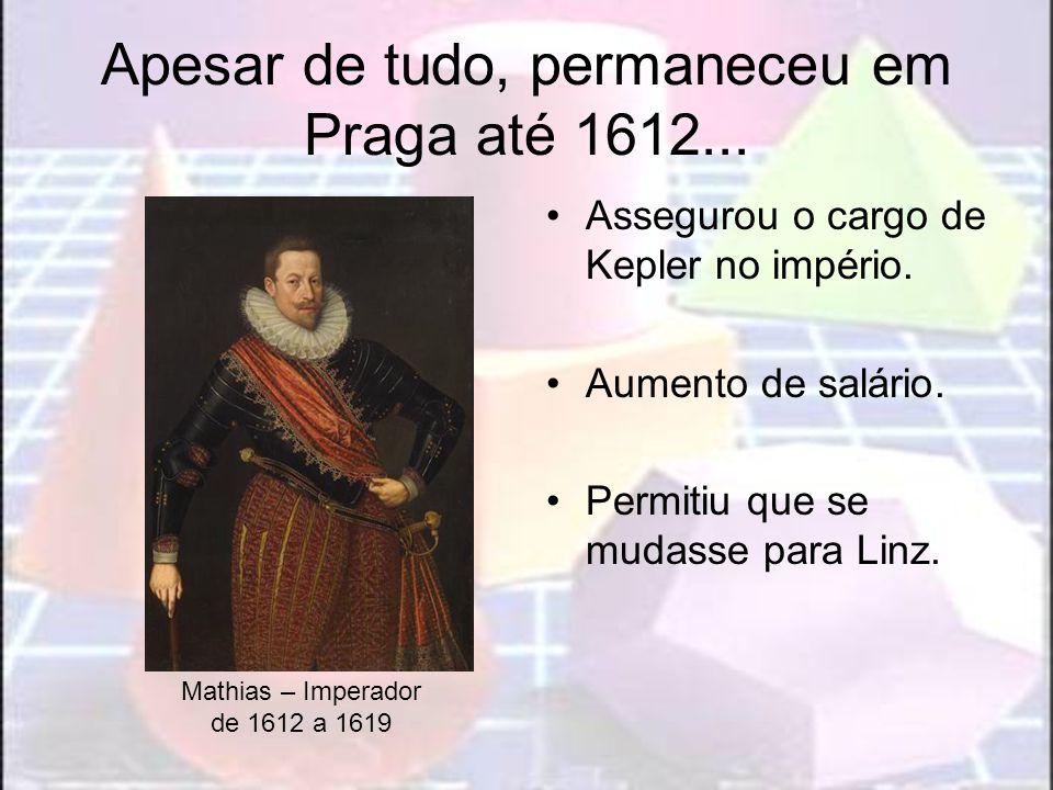 Apesar de tudo, permaneceu em Praga até 1612...
