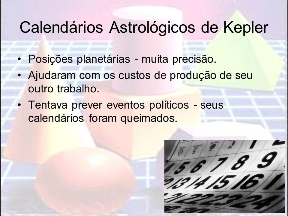 Calendários Astrológicos de Kepler