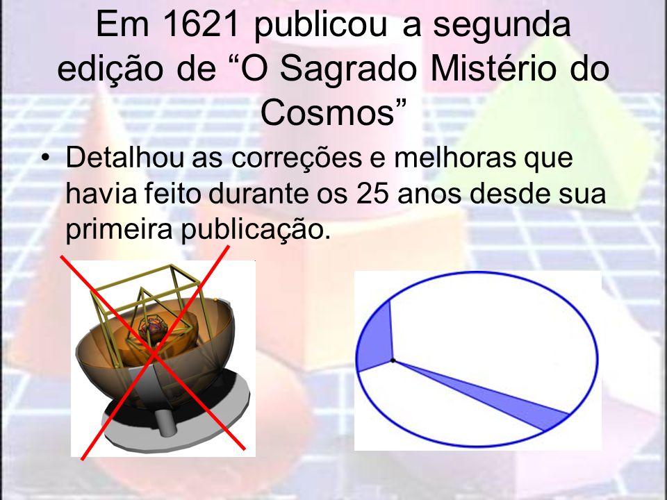 Em 1621 publicou a segunda edição de O Sagrado Mistério do Cosmos