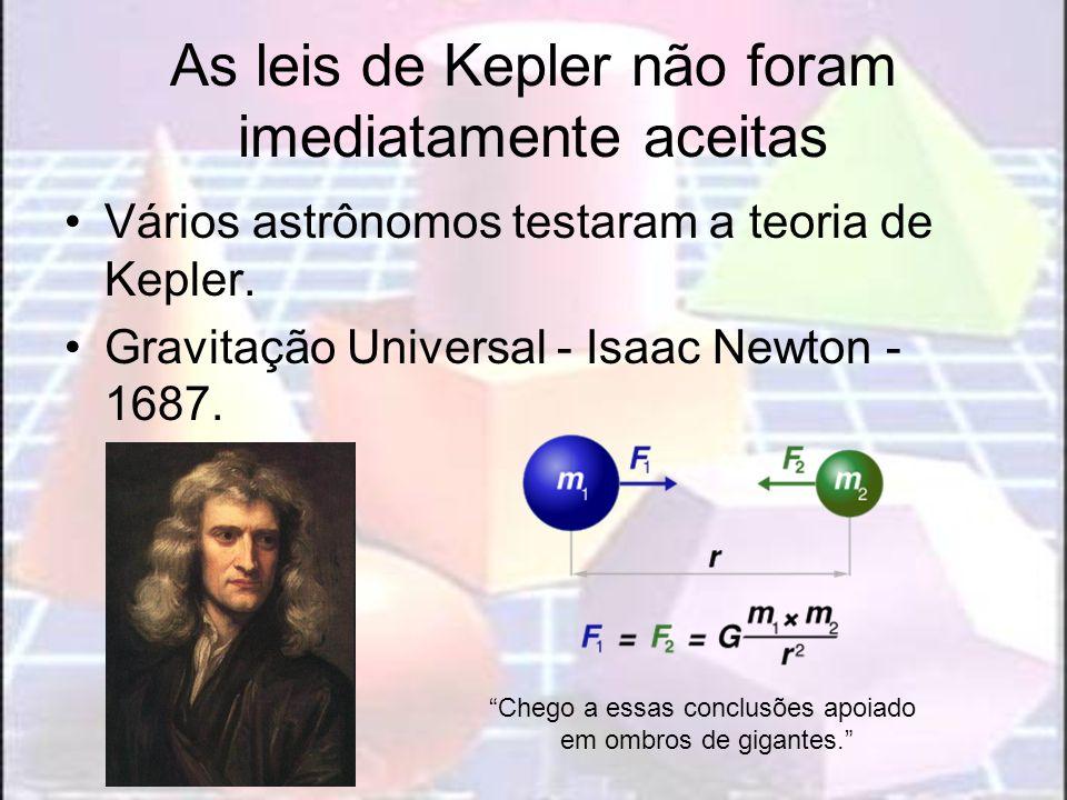 As leis de Kepler não foram imediatamente aceitas