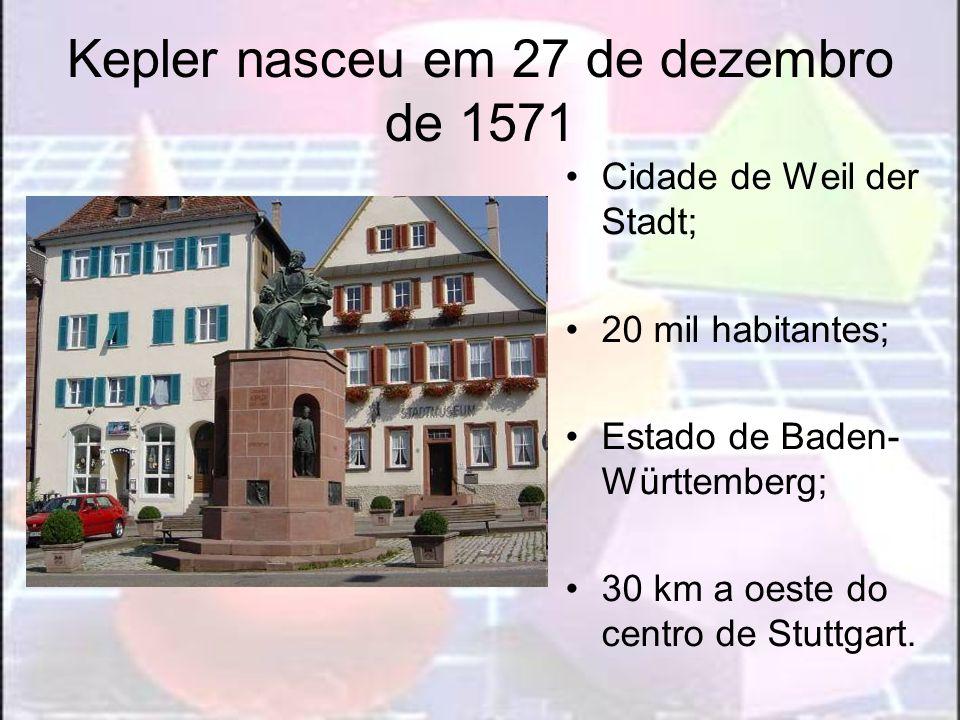 Kepler nasceu em 27 de dezembro de 1571