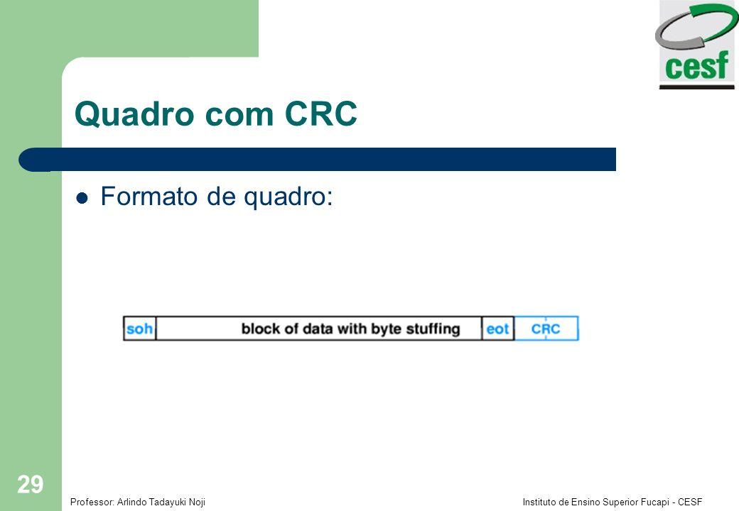Quadro com CRC Formato de quadro: