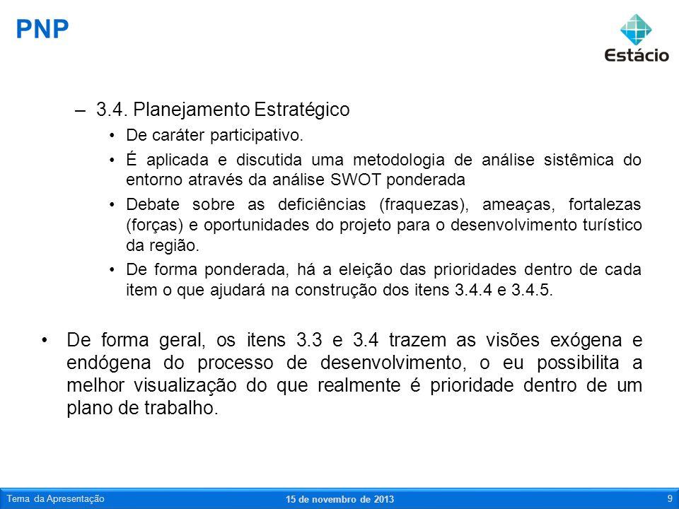 PNP 3.4. Planejamento Estratégico