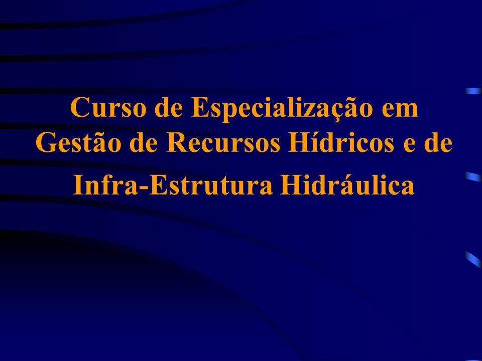 Curso de Especialização em Gestão de Recursos Hídricos e de