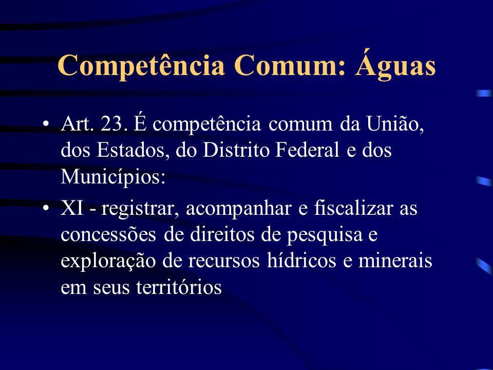Competência Comum: Águas
