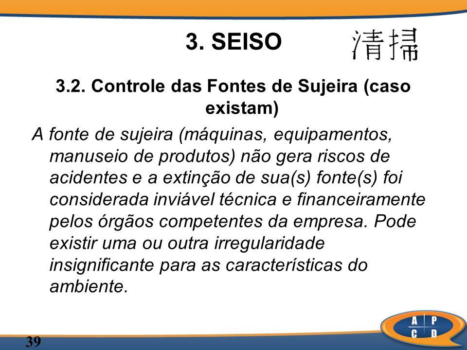 3.2. Controle das Fontes de Sujeira (caso existam)