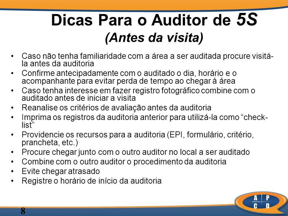 Dicas Para o Auditor de 5S (Antes da visita)