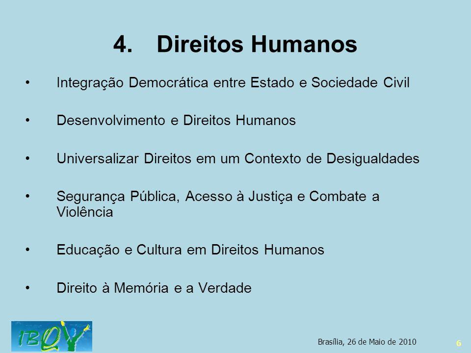 Direitos Humanos Integração Democrática entre Estado e Sociedade Civil