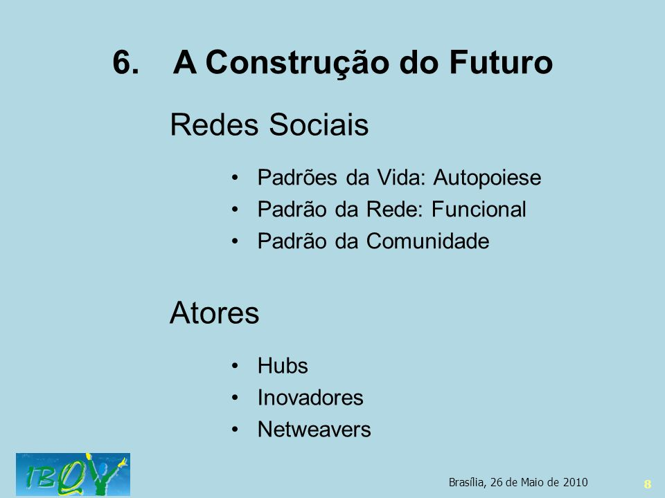 A Construção do Futuro Redes Sociais Atores