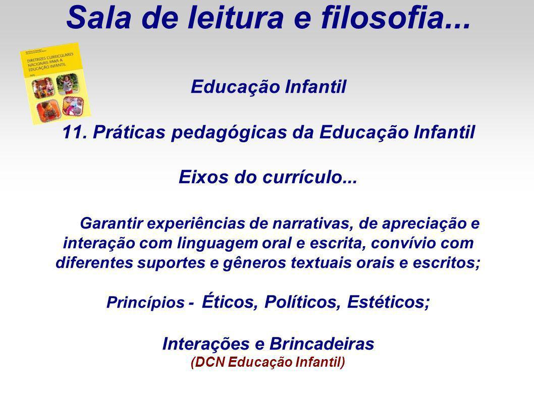 Sala de leitura e filosofia. Educação Infantil 11