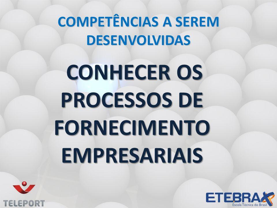 Conhecer os processos de fornecimento empresariais