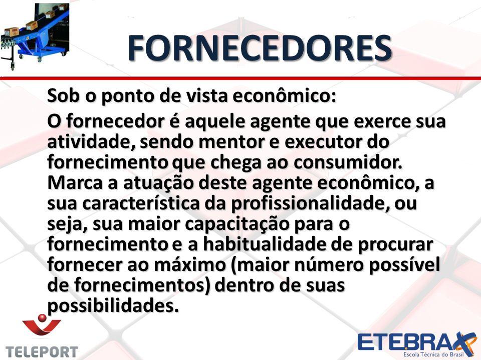 FORNECEDORES Sob o ponto de vista econômico: