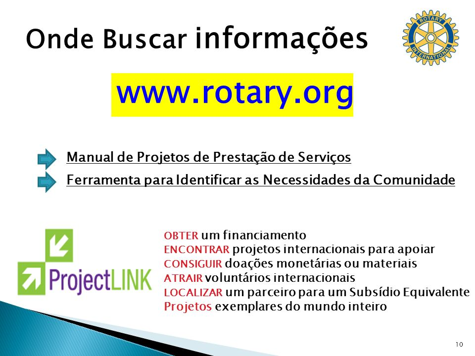 www.rotary.org Onde Buscar informações