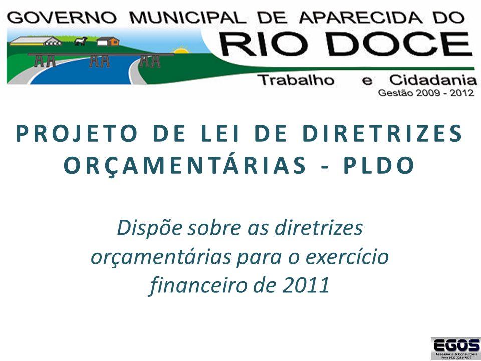 PROJETO DE LEI DE DIRETRIZES ORÇAMENTÁRIAS - PLDO