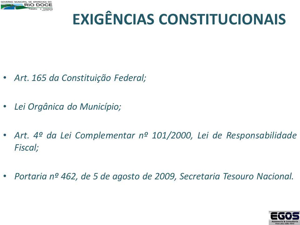 EXIGÊNCIAS CONSTITUCIONAIS