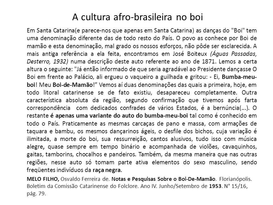 A cultura afro-brasileira no boi