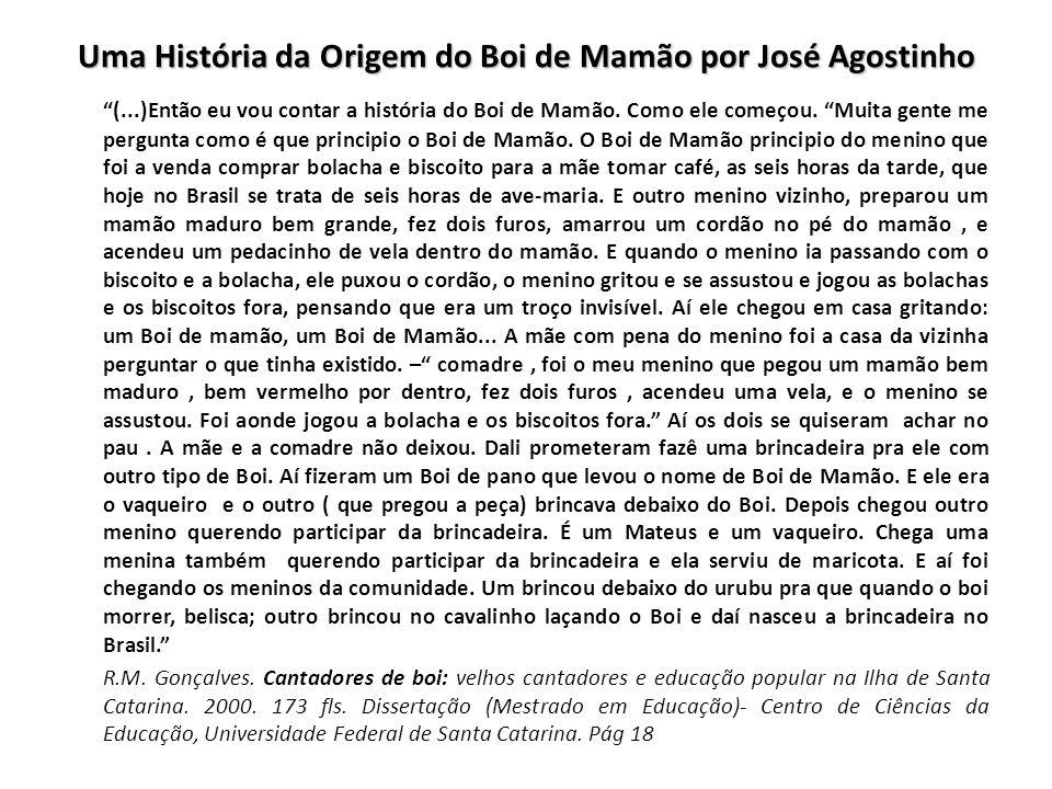 Uma História da Origem do Boi de Mamão por José Agostinho