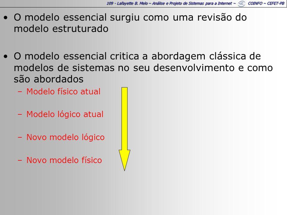 O modelo essencial surgiu como uma revisão do modelo estruturado