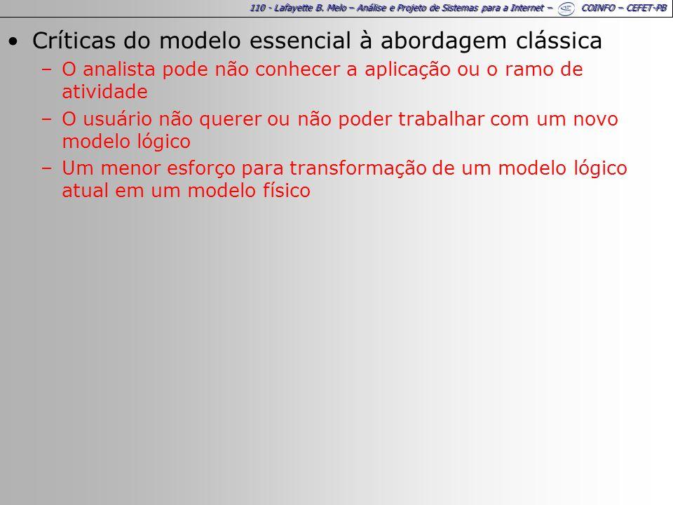 Críticas do modelo essencial à abordagem clássica