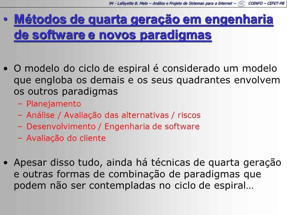 Métodos de quarta geração em engenharia de software e novos paradigmas