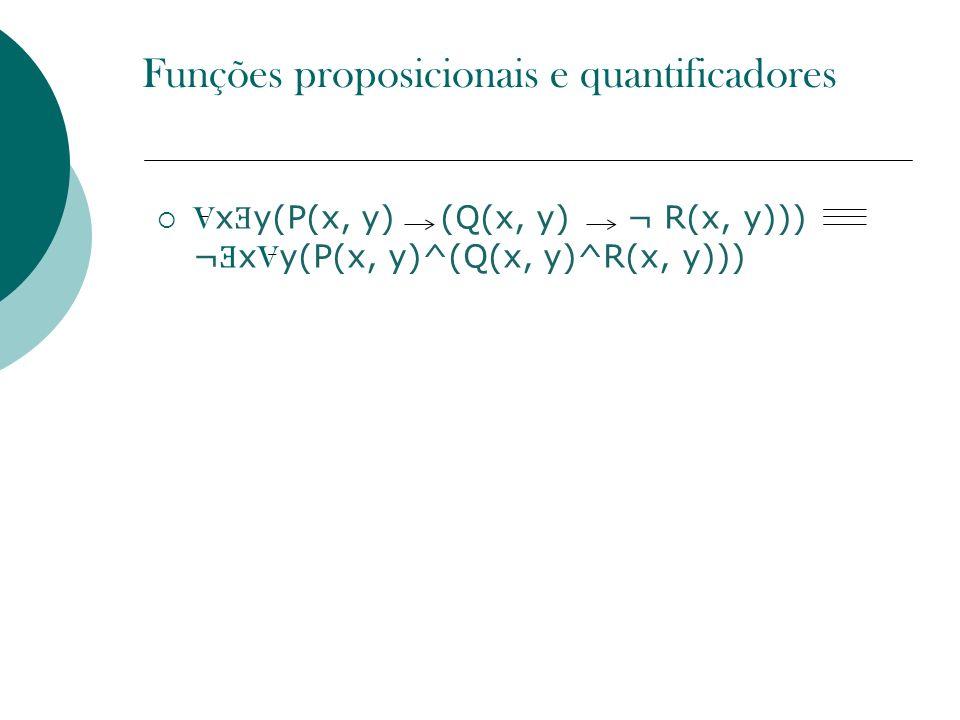Funções proposicionais e quantificadores