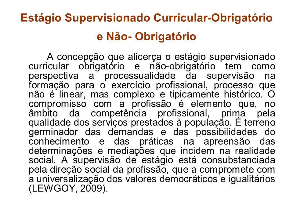 Estágio Supervisionado Curricular-Obrigatório e Não- Obrigatório