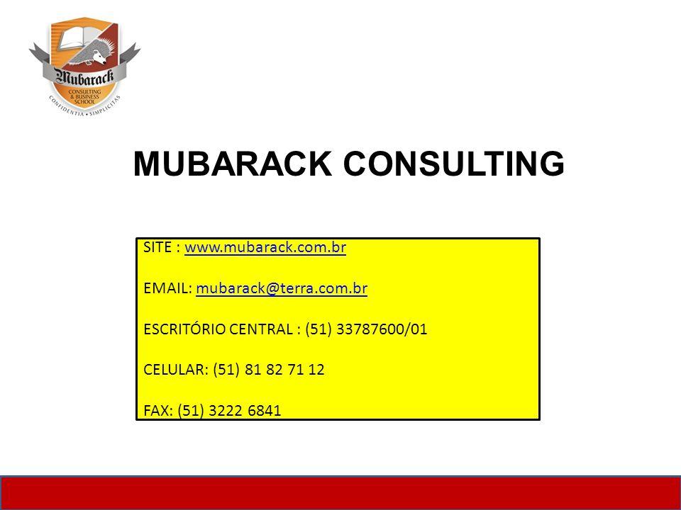 MUBARACK CONSULTING SITE : www.mubarack.com.br
