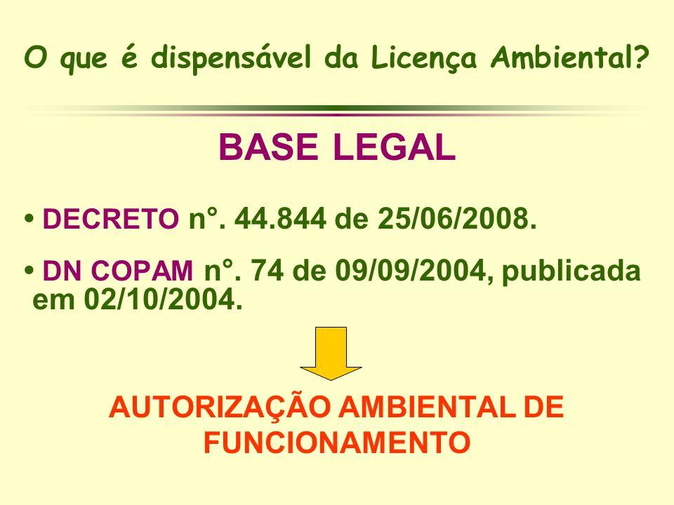 O que é dispensável da Licença Ambiental