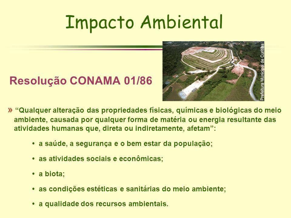 Impacto Ambiental Resolução CONAMA 01/86