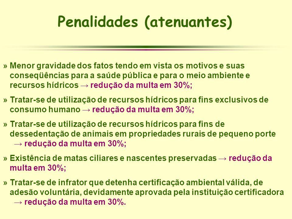 Penalidades (atenuantes)