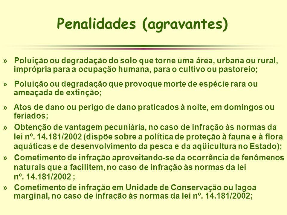 Penalidades (agravantes)