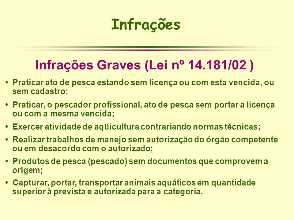 Infrações Graves (Lei nº 14.181/02 )