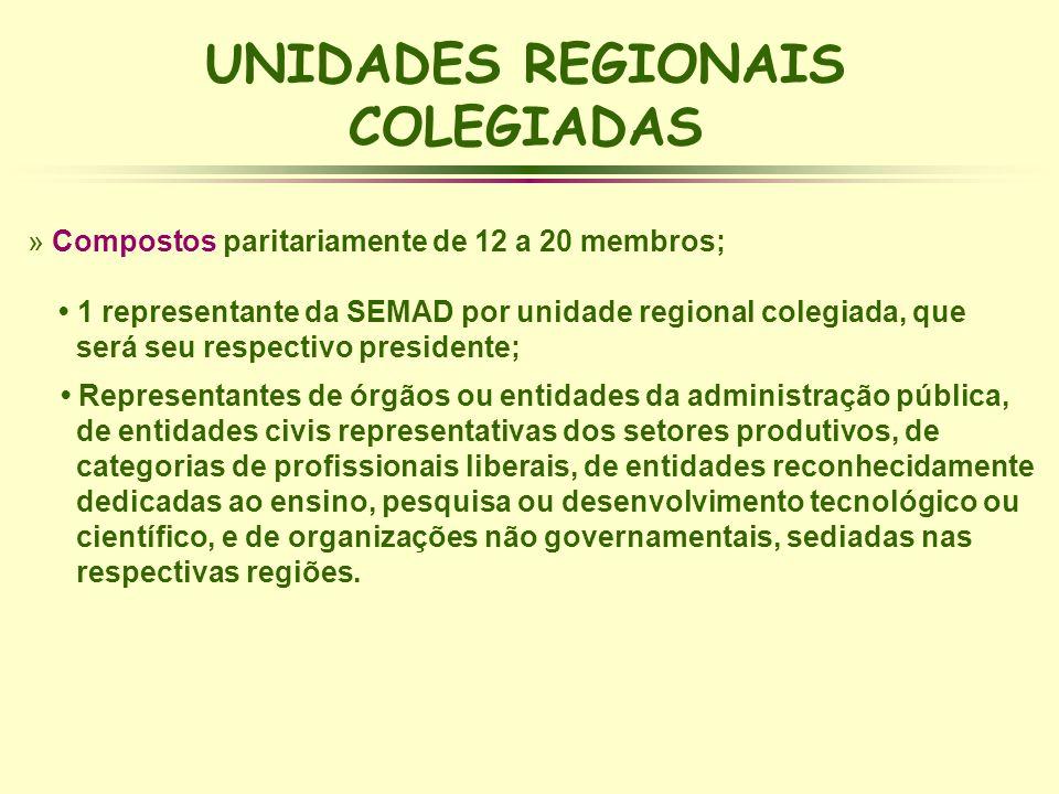 UNIDADES REGIONAIS COLEGIADAS