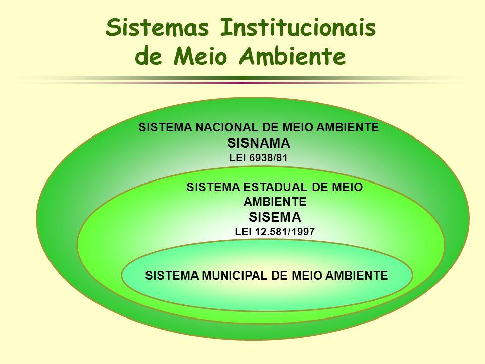Sistemas Institucionais de Meio Ambiente