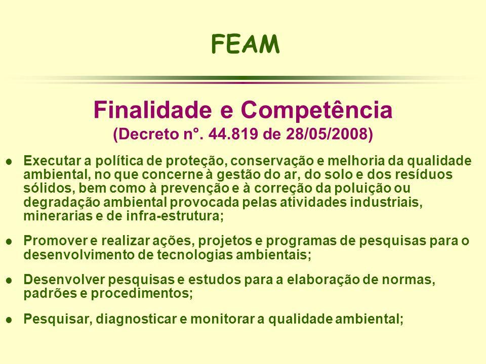 Finalidade e Competência