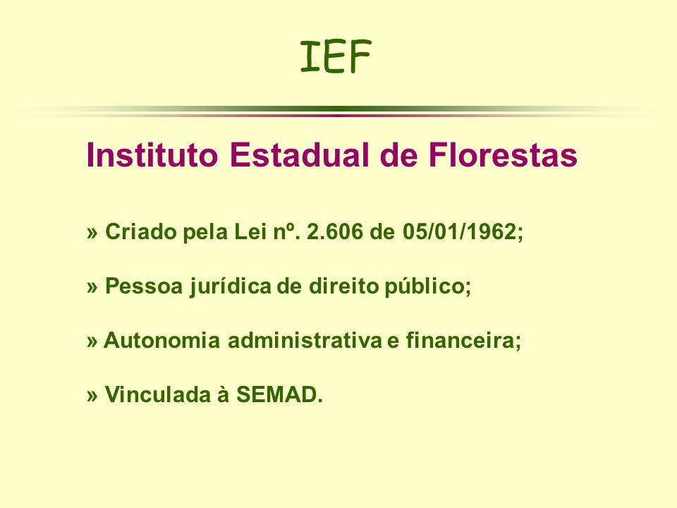 IEF Instituto Estadual de Florestas