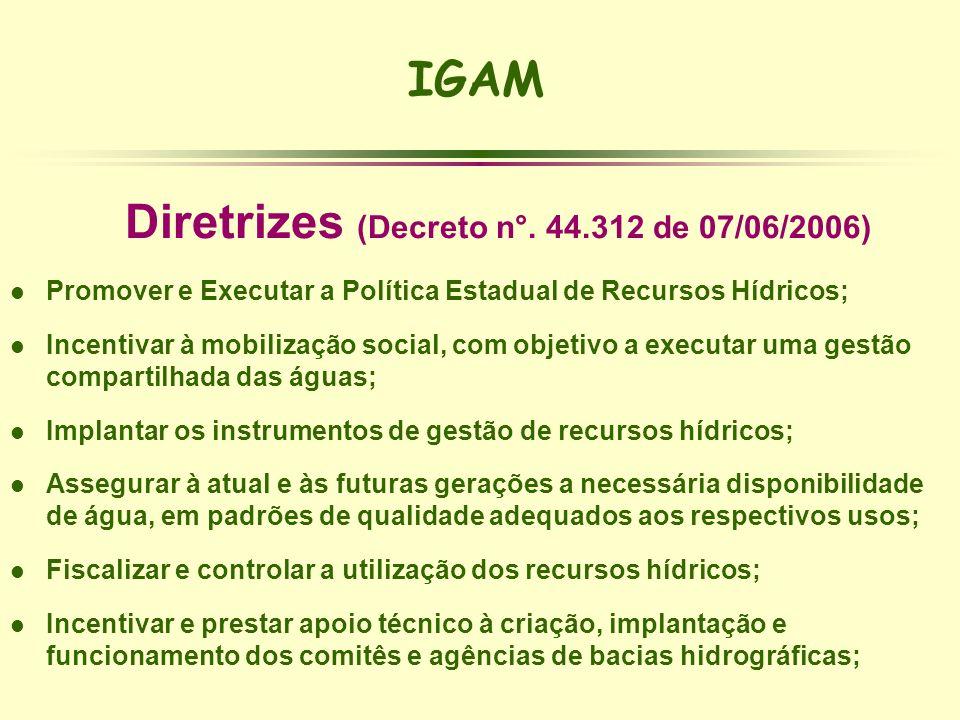Diretrizes (Decreto n°. 44.312 de 07/06/2006)