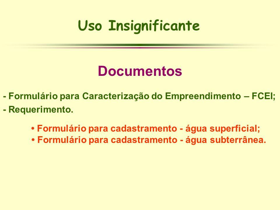Uso Insignificante Documentos