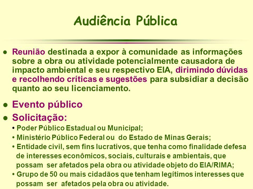 Audiência Pública Evento público Solicitação: