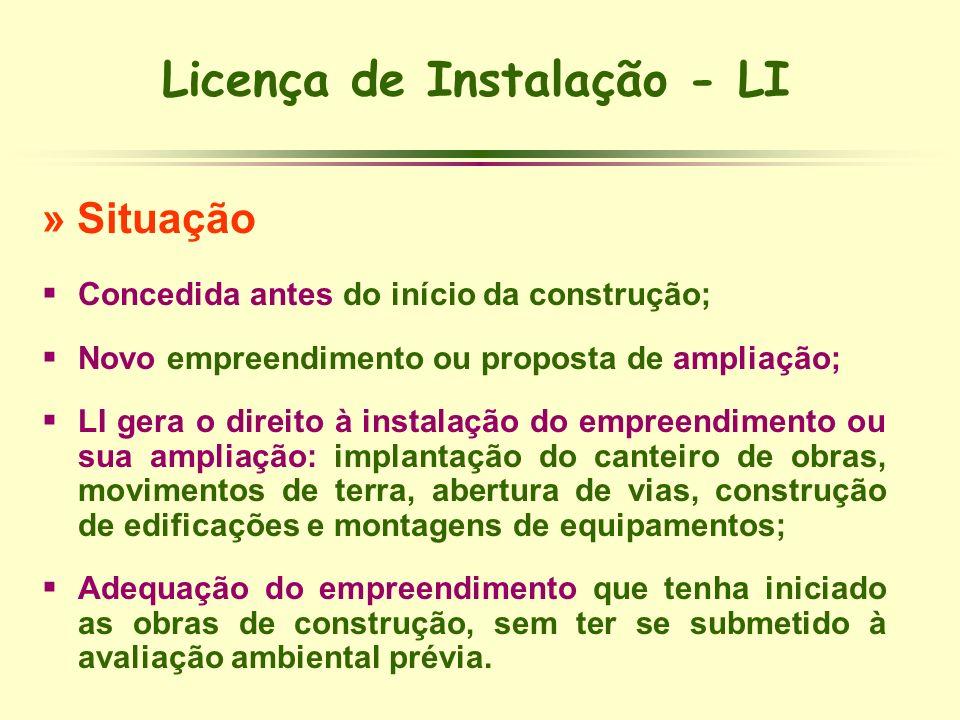 Licença de Instalação - LI