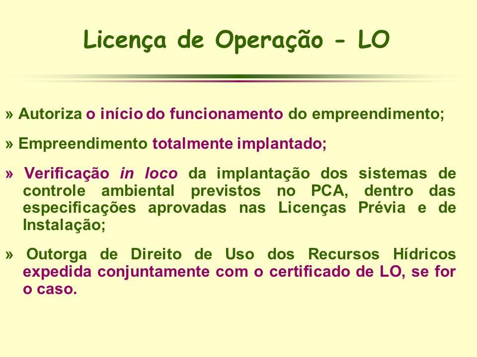 Licença de Operação - LO