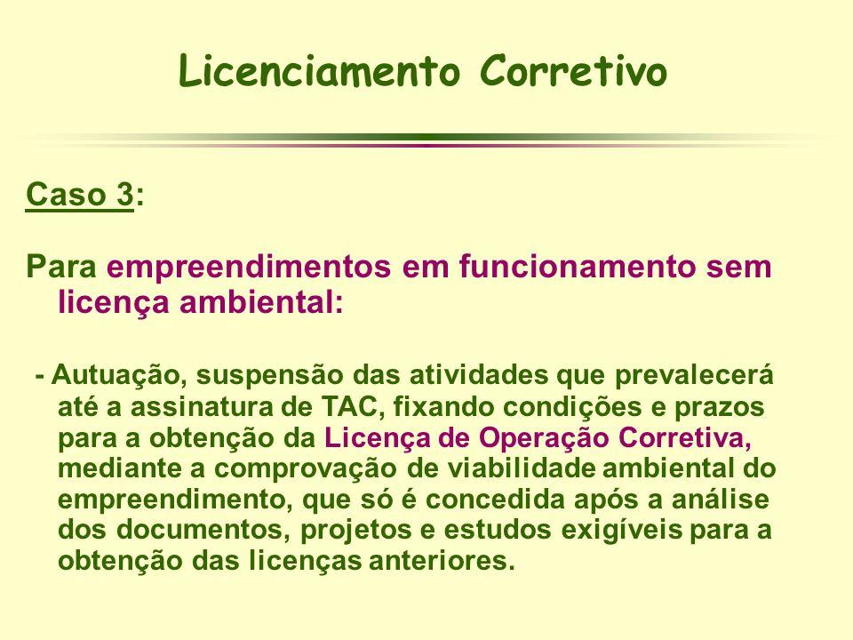 Licenciamento Corretivo