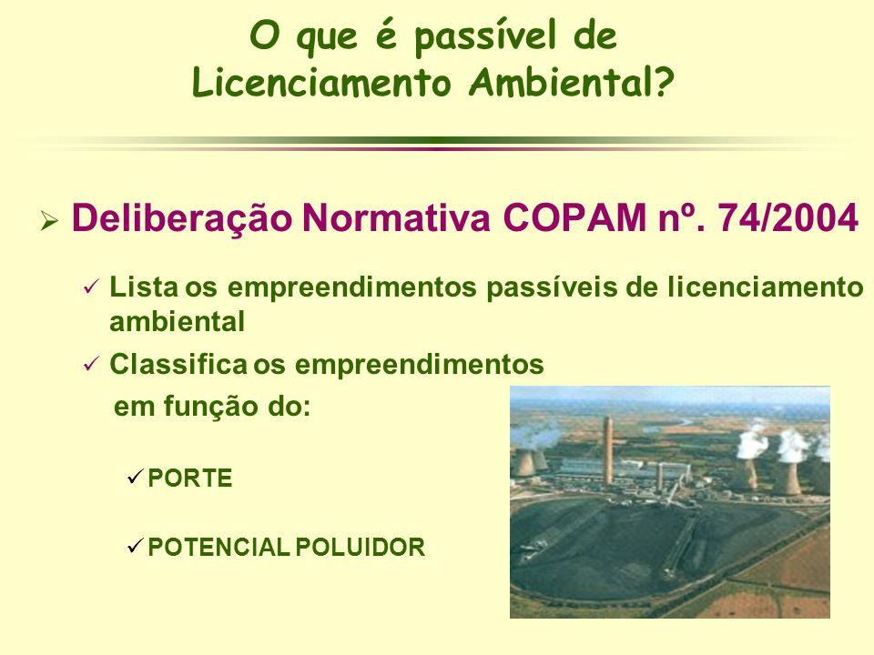 O que é passível de Licenciamento Ambiental
