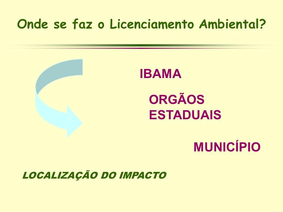 Onde se faz o Licenciamento Ambiental