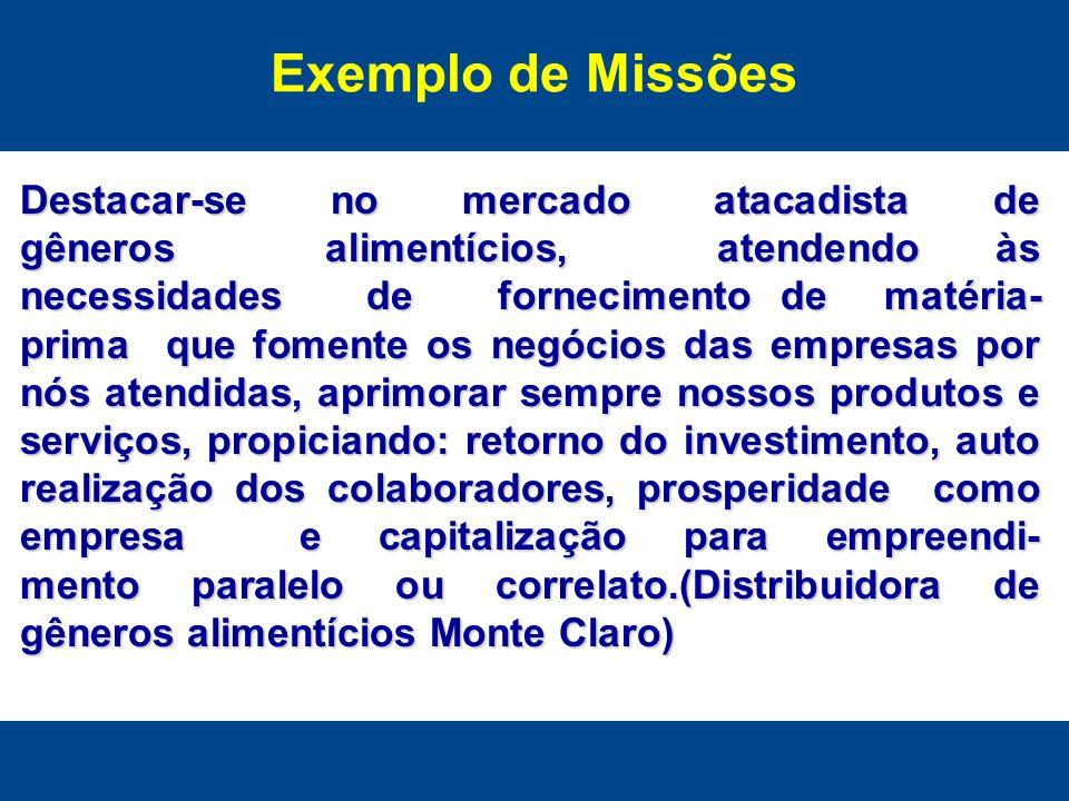 Exemplo de Missões