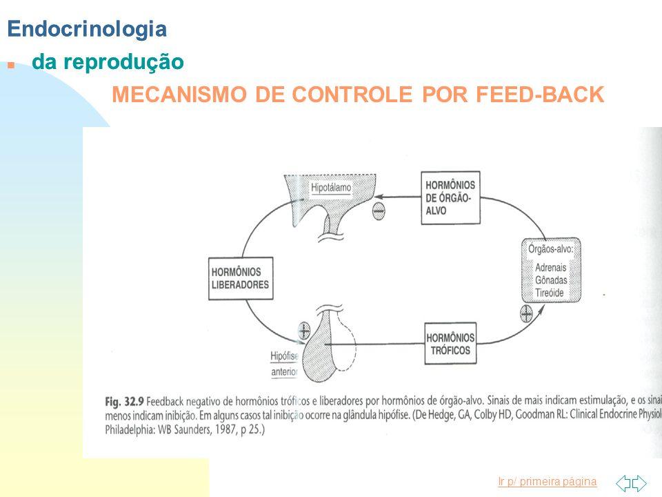 Endocrinologia Endocrinologia da reprodução da reprodução MECANISMO DE CONTROLE POR FEED-BACK
