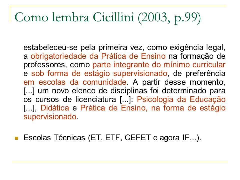 Como lembra Cicillini (2003, p.99)