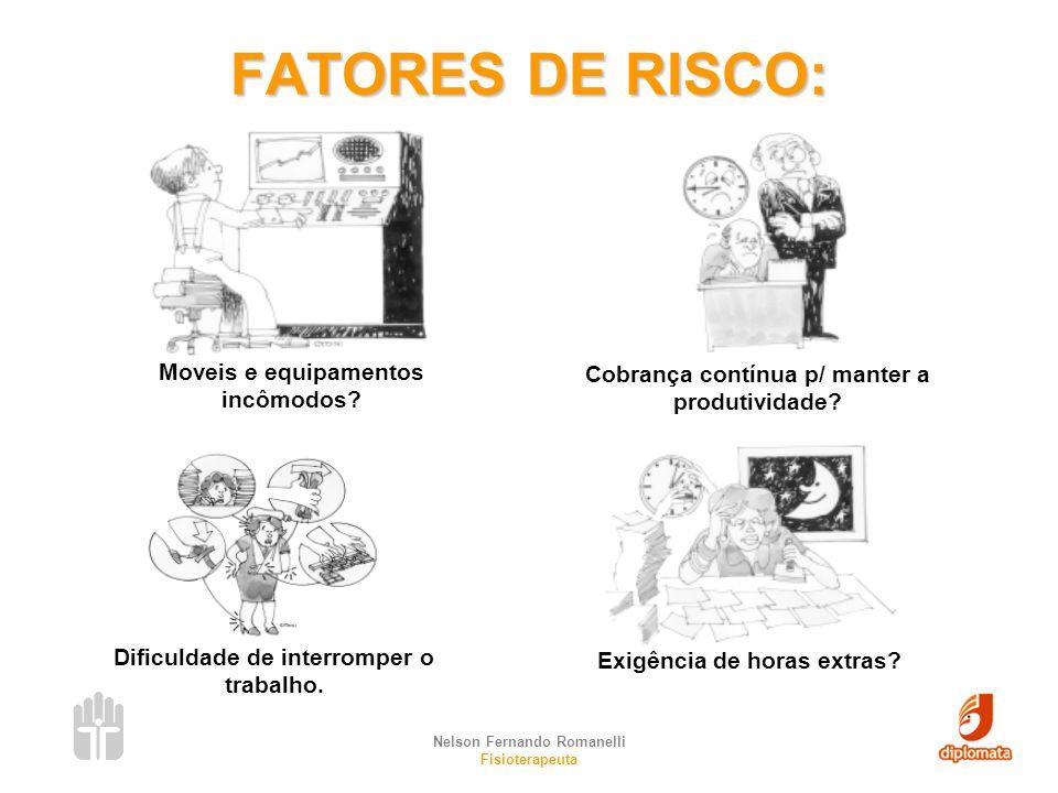 FATORES DE RISCO: Moveis e equipamentos incômodos