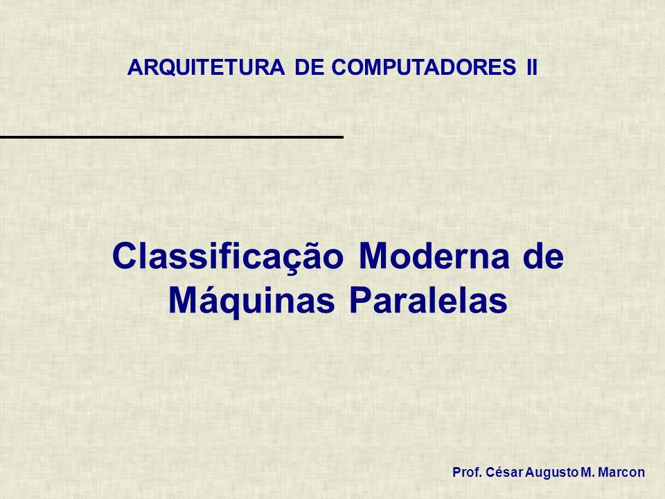 Classificação Moderna de Máquinas Paralelas